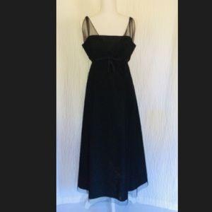 Black Net A-line Midi Cocktail Dress 12